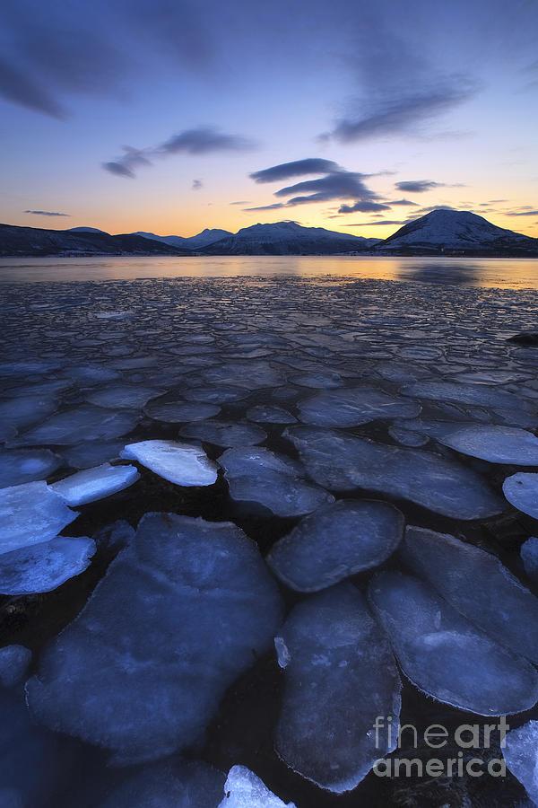 Evenskjer Photograph - Ice Flakes Drifting Towards by Arild Heitmann