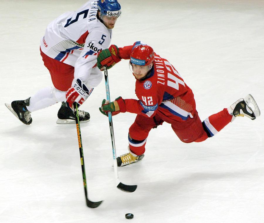 Skates Photograph - Ice Hockey by Ria Novosti