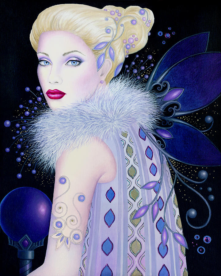 Fairy Painting - Ice Maiden by B K Lusk