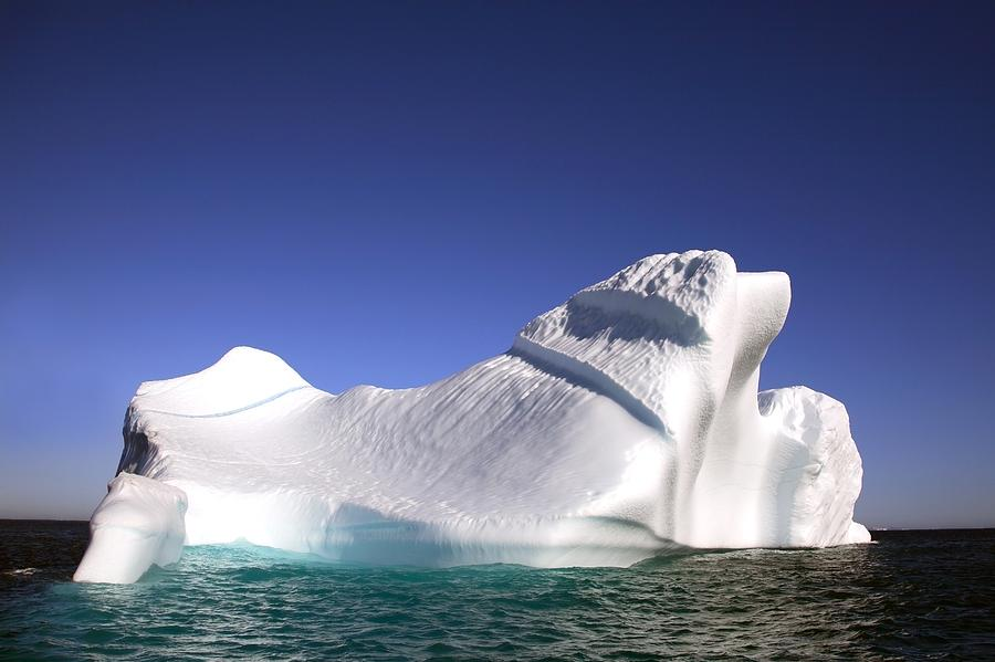 Blue Sky Photograph - Iceberg In The Canadian Arctic by Richard Wear