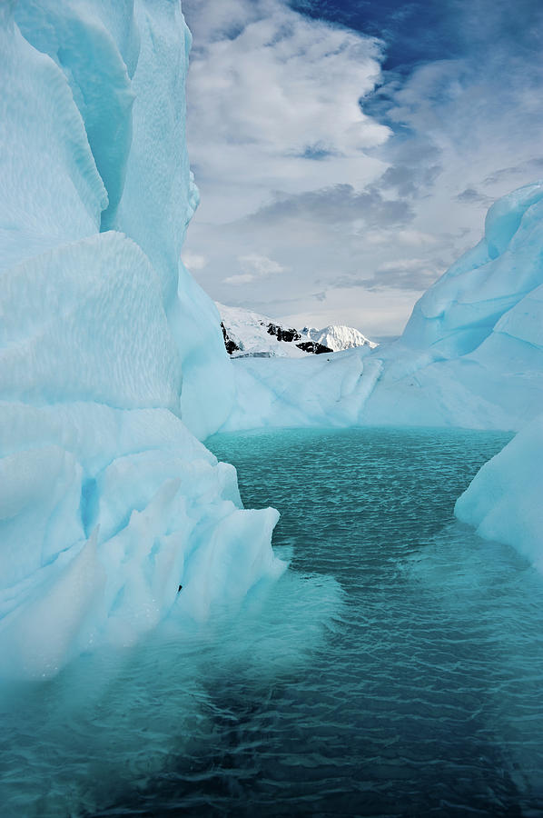 Vertical Photograph - Iceberg Lagoon by Duane Miller