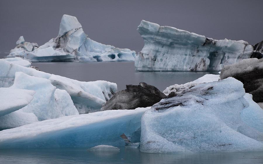 Blue Photograph - Icebergs by Arnar B Gudjonsson