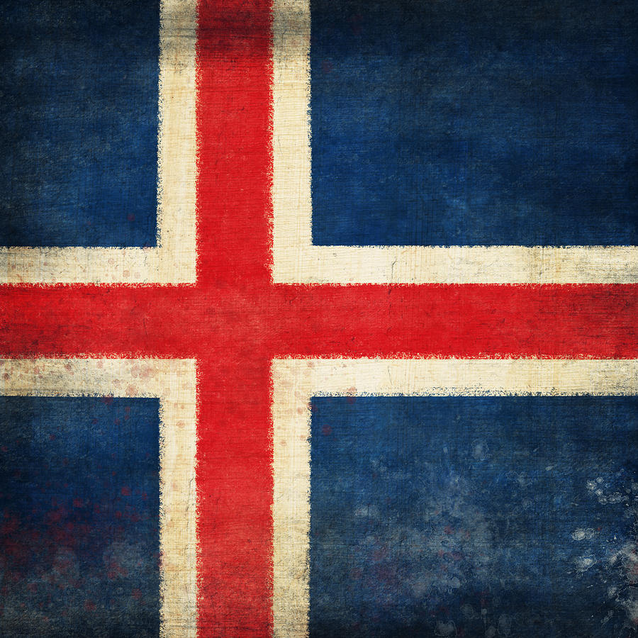Chalk Photograph - Iceland Flag by Setsiri Silapasuwanchai