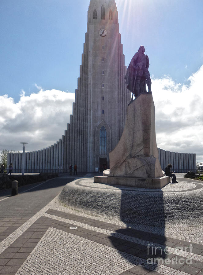 Iceland Photograph - Iceland Leif Erricson Statue 02 by Gregory Dyer