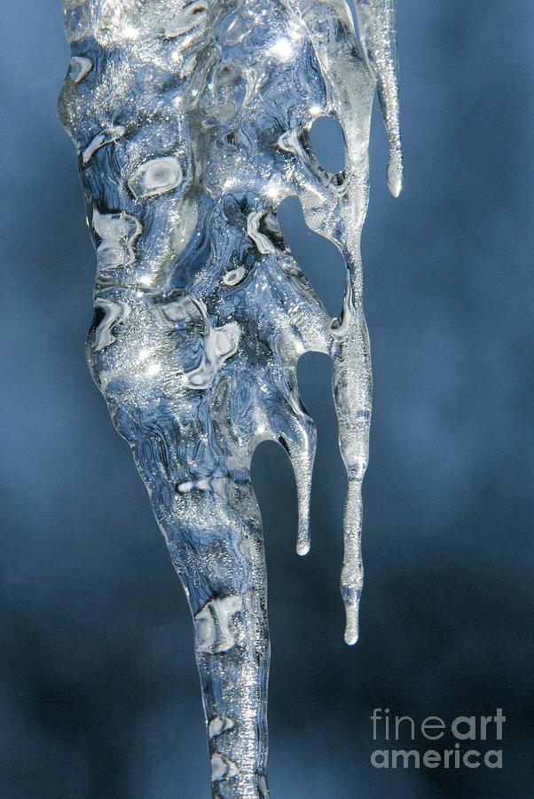 Bronstein Photograph - Icicle Formation by Sandra Bronstein