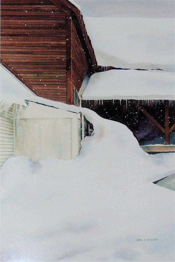 Barn Painting - Icicles by Karol Wyckoff