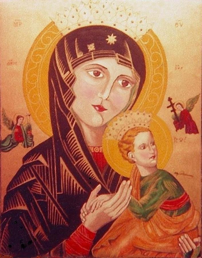 Icon Painting - Icon by Elly Potamianos