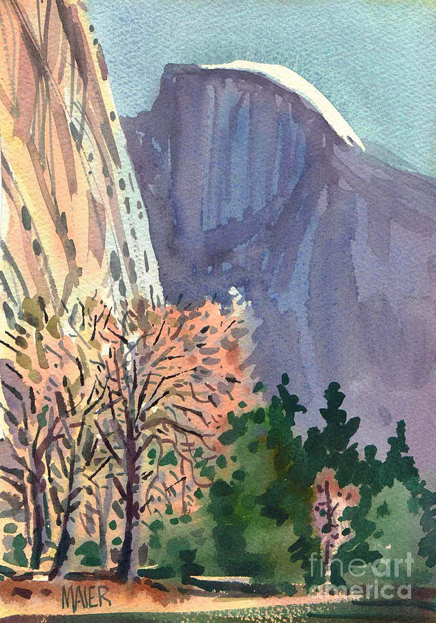 Yosemite Painting - Icon Yosemite by Donald Maier