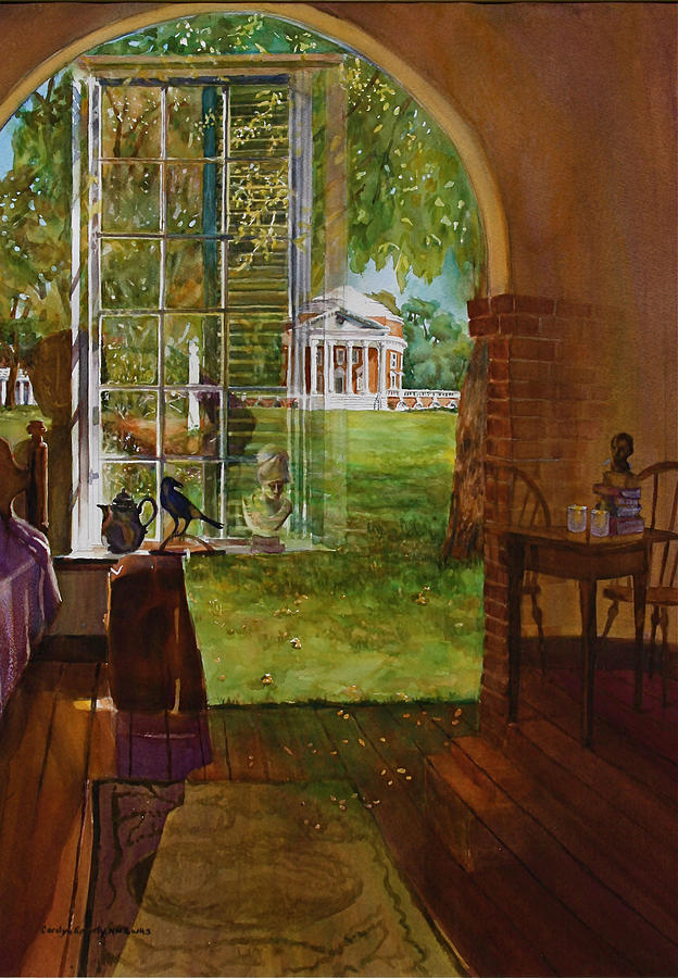 Reflections Painting - Iconic Reflections by Carolyn Epperly