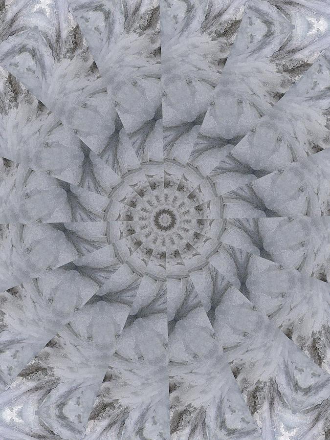 Kaleidoscope Digital Art - Icy Kaleidoscope 1 by Rhonda Barrett