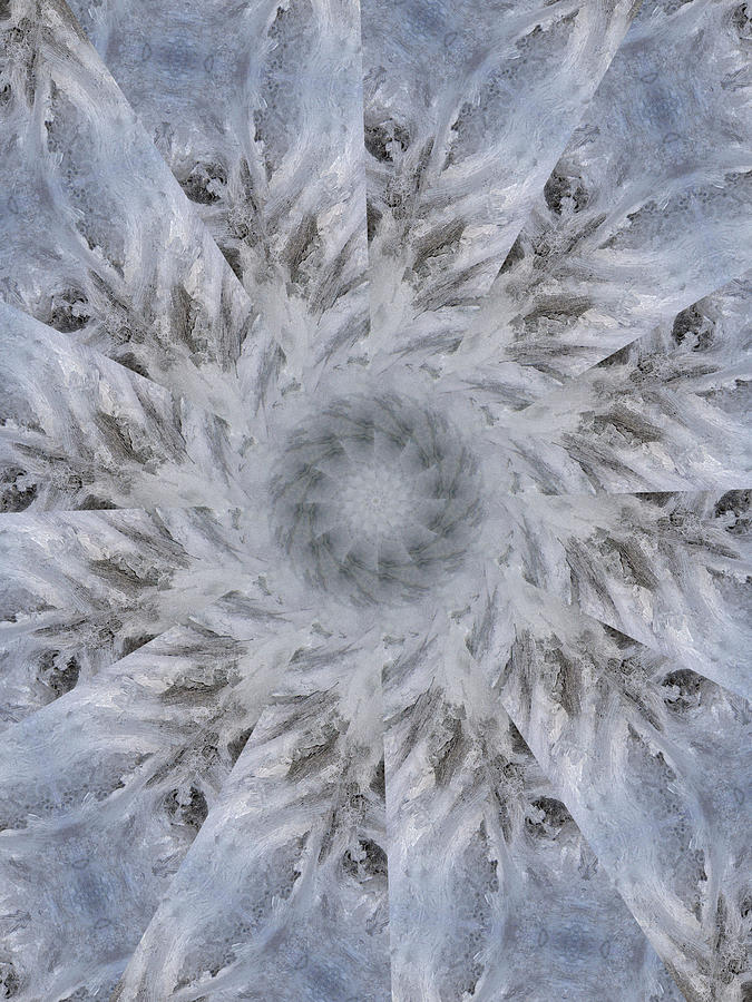 Kaleidoscope Digital Art - Icy Kaleidoscope 2 by Rhonda Barrett