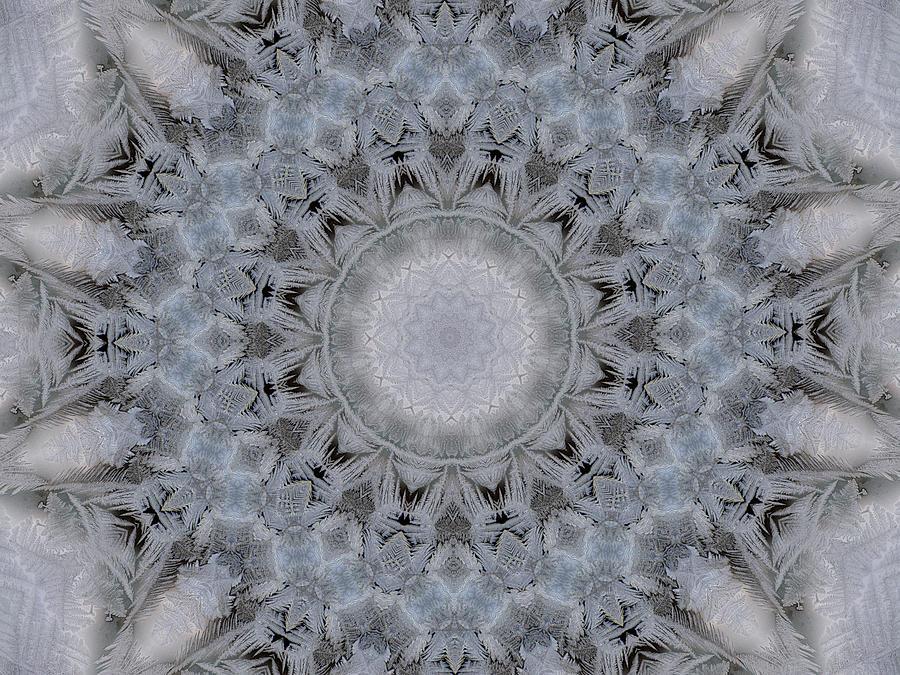 Kaleidoscope Digital Art - Icy Kaleidoscope 4 by Rhonda Barrett