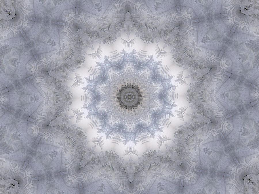 Kaleidoscope Digital Art - Icy Kaleidoscope 5 by Rhonda Barrett