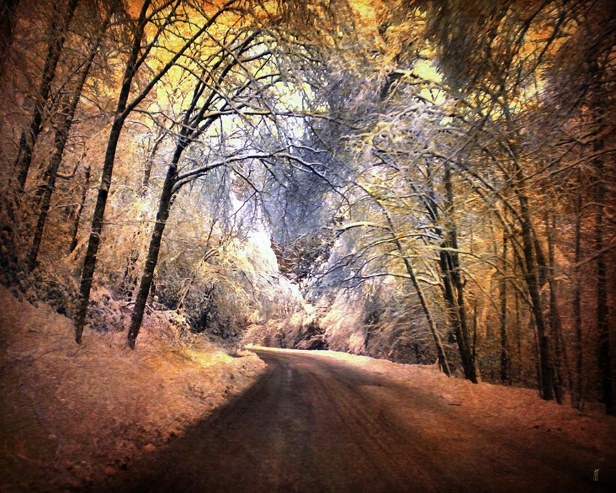 Christmas Photograph - Icy Road by Jai Johnson