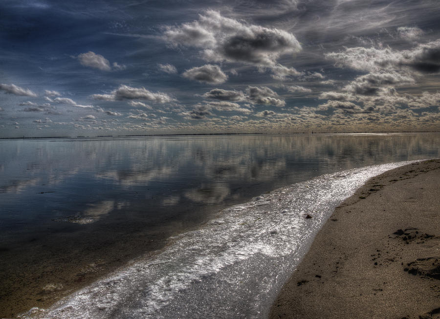 Icy Winter Beach Photograph by Vicki Jauron