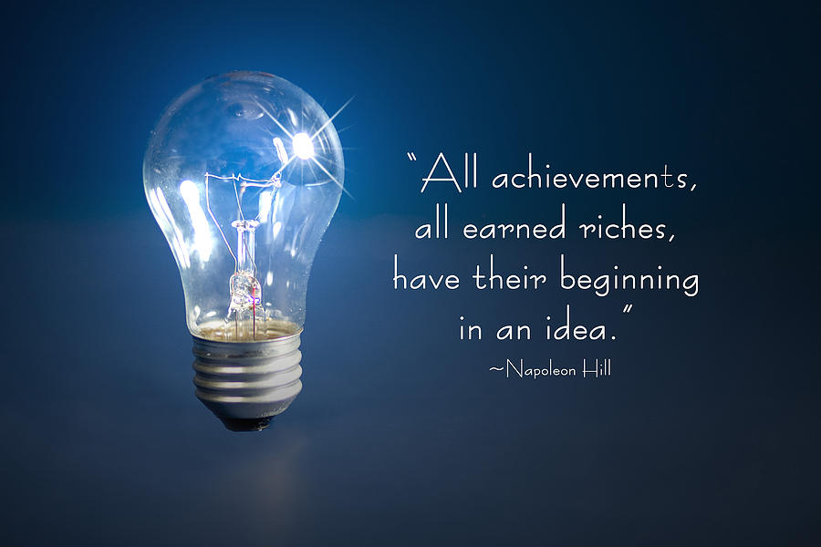 Ideas Photograph - Ideas- Lightbulb by Trudy Wilkerson