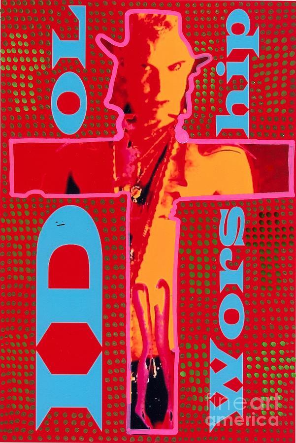 Crucifix Digital Art - Idol Worship by Ricky Sencion