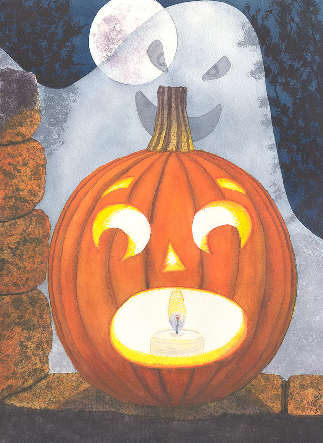 Pumpkin Painting - If I Had Legs Id Be Running by Catherine G McElroy