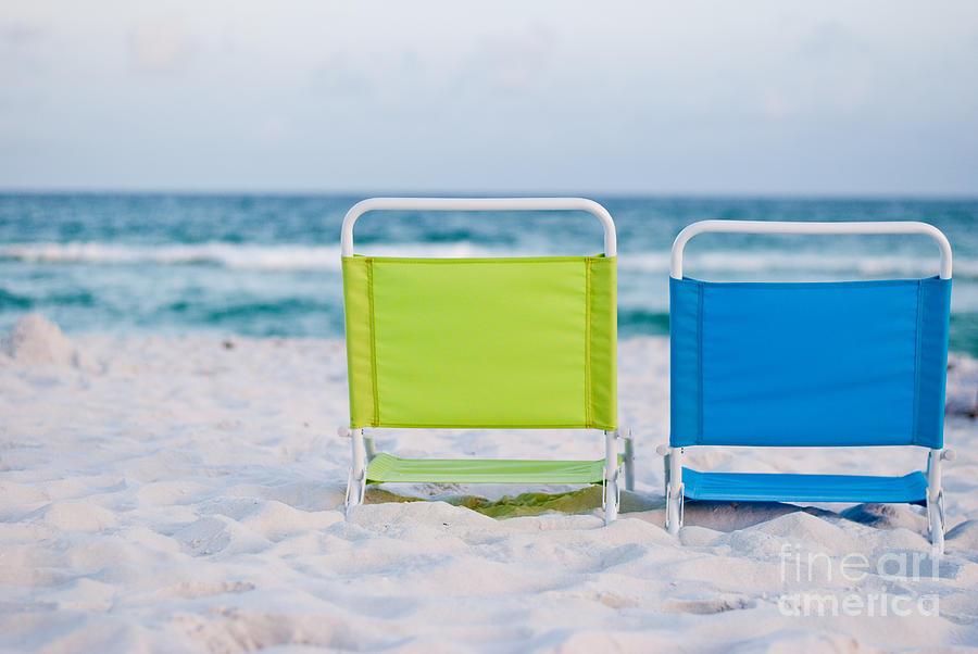 Beach Photograph - If I Were A Chair... by Barbara Shallue