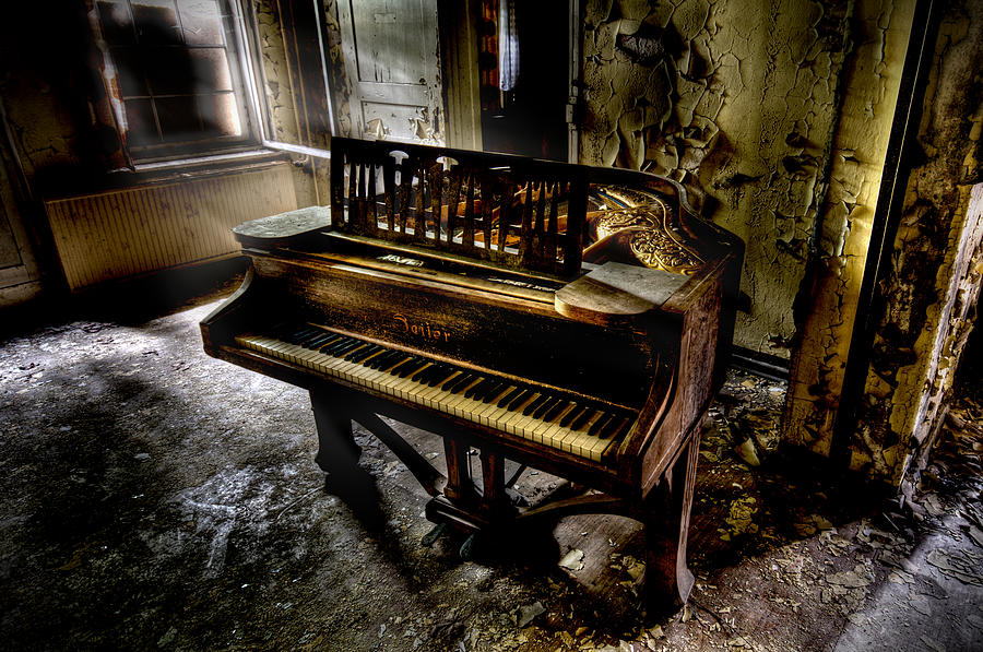 Urbex Photograph - If Music Be The Food Of Love.... by Steven Coppenbarger