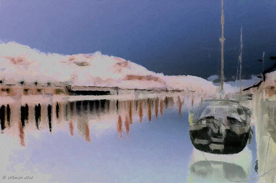 Harbor Painting - Igloo Harbor by Lynda K Cole-Smith