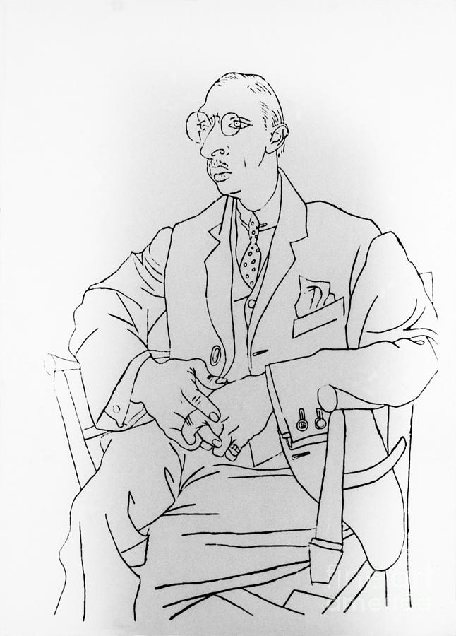 History Photograph - Igor Stravinsky, Russian Composer by Omikron