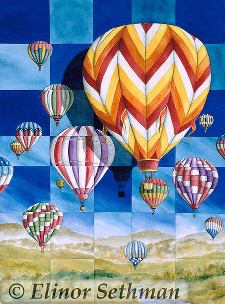 Hot Air Balloons Painting - Ill Fly Away by Elinor Sethman