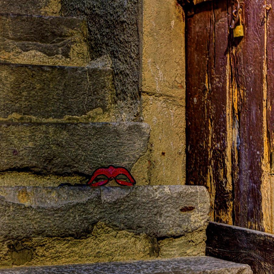 Venetian Mask Photograph - Illicit Liaison by Jasna Buncic