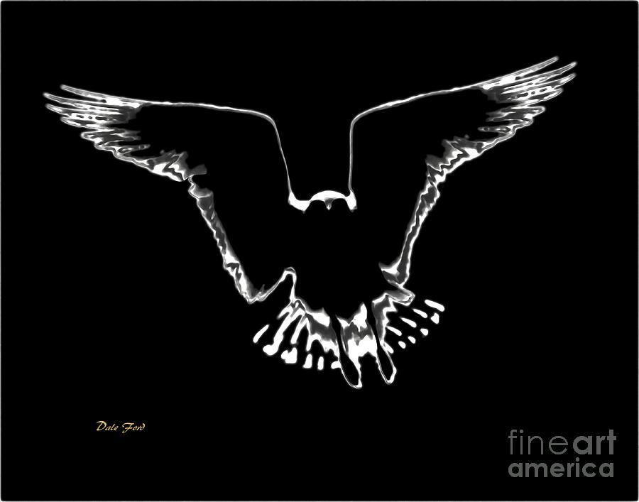 Bird Digital Art - Illuminated by Dale   Ford
