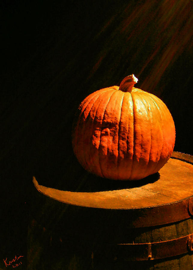 Illuminated Pumpkin Photograph