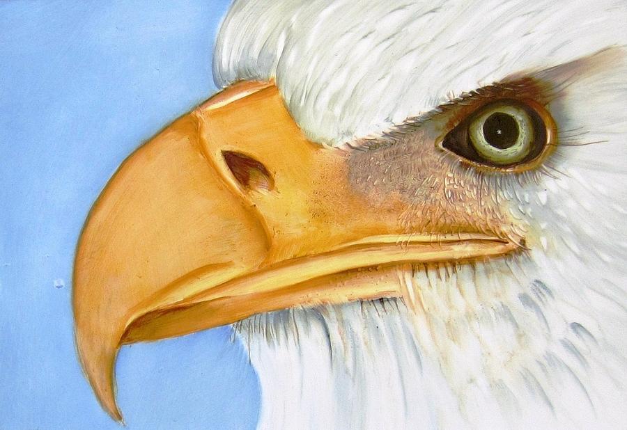 Porcelain Ceramic Art - Image 1147b Bold Eagle 1 by Wilma Manhardt