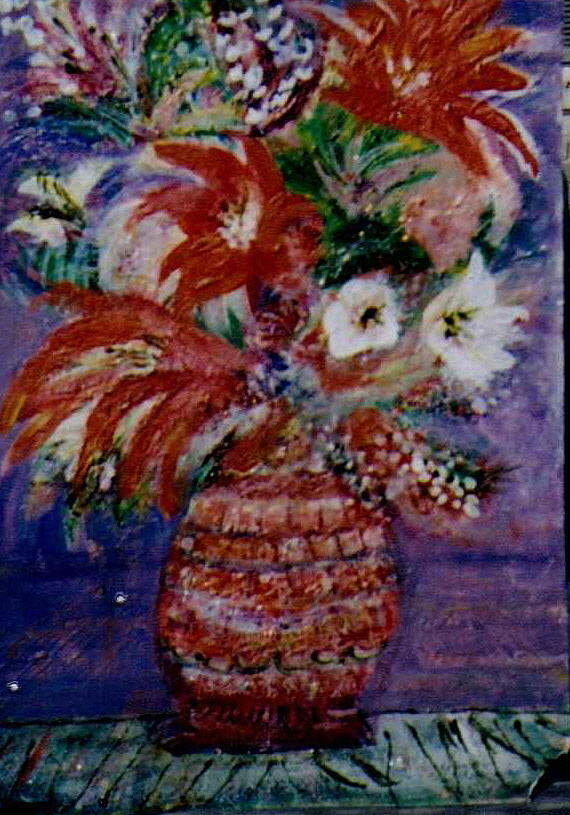 Flowers Painting - Imaginary Reds by Anne-Elizabeth Whiteway