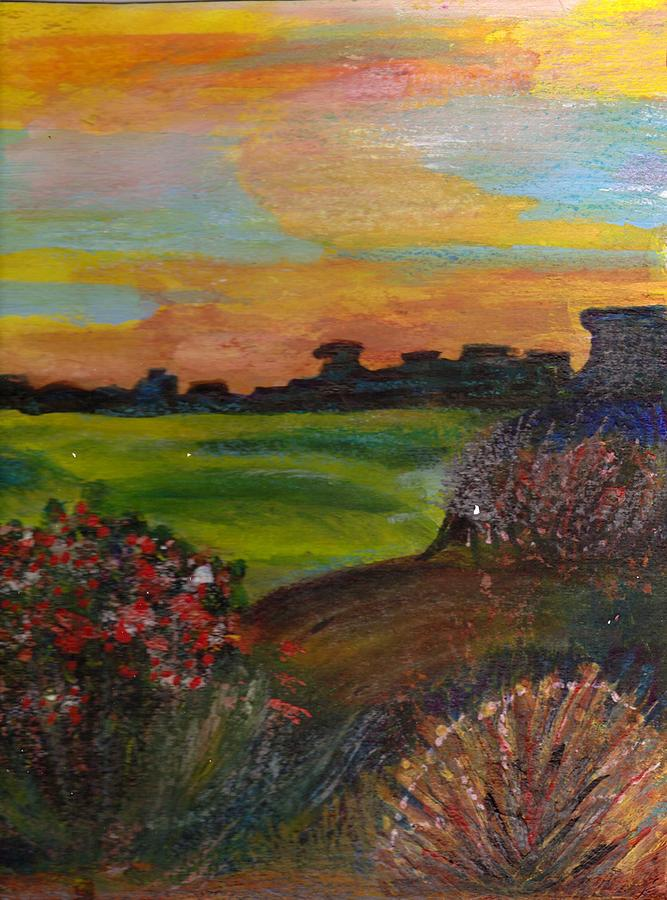 Imaginary Painting - Imaginary View Of Golf Course by Anne-Elizabeth Whiteway