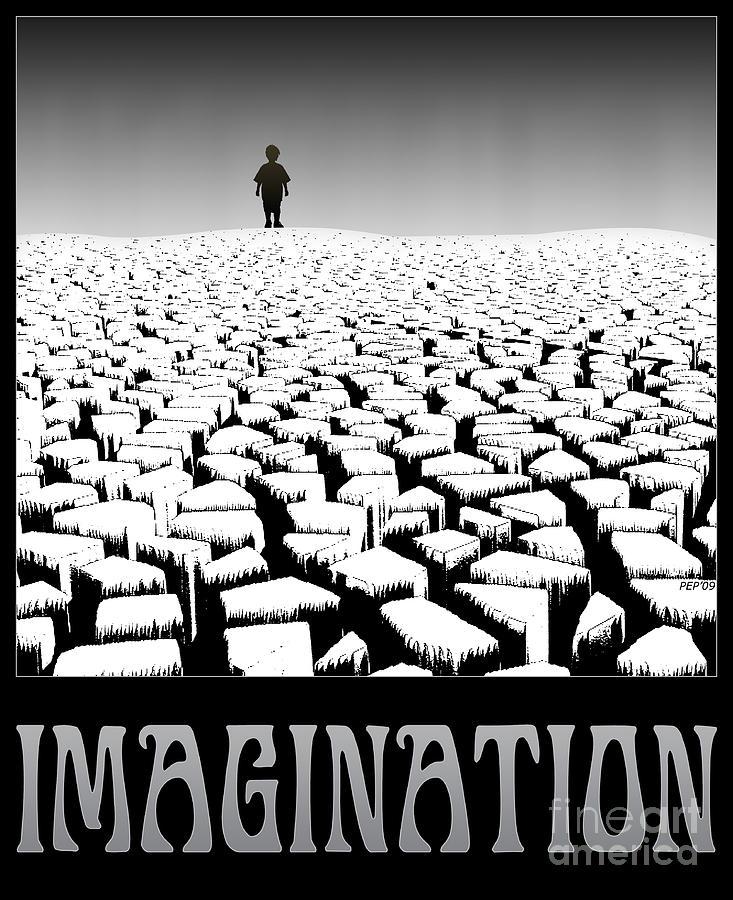 Surreal Digital Art - Imagination by Phil Perkins