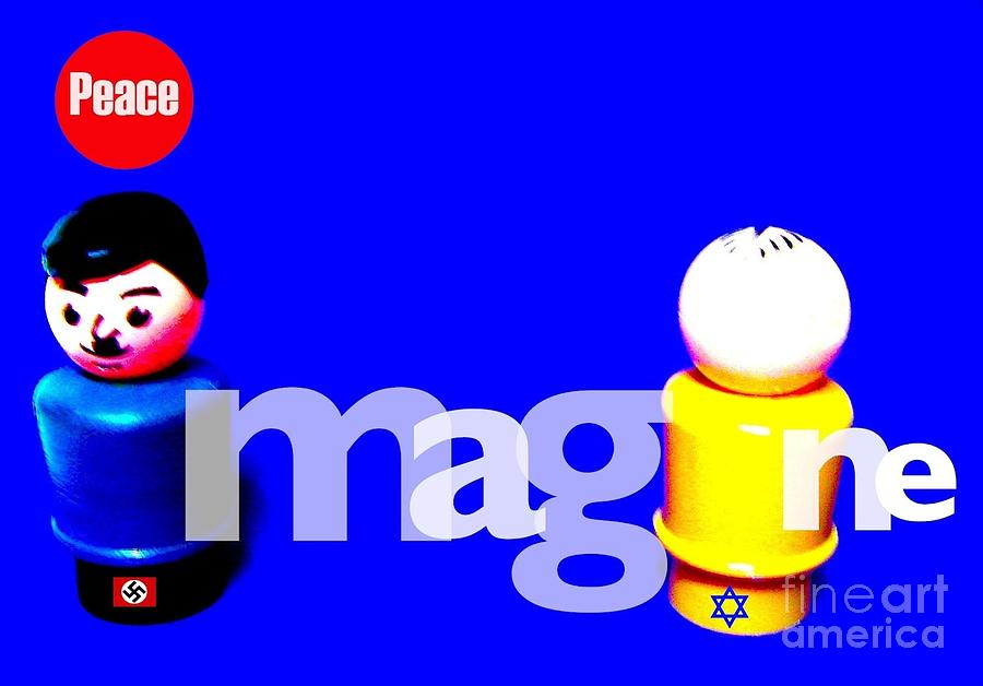 Fisher Price Little People Photograph - Imagine Peace by Ricky Sencion