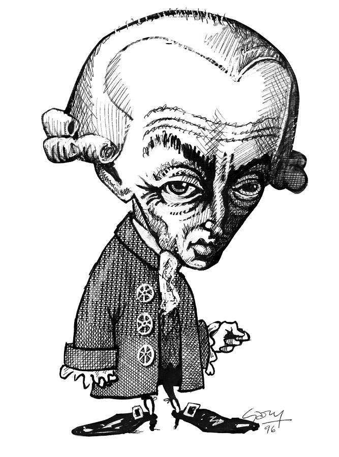 Human Photograph - Immanuel Kant, Caricature by Gary Brown