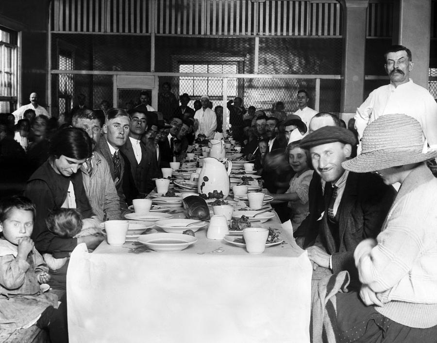 1920s Photograph - Immigrants Who Are Awaiting Approval by Everett