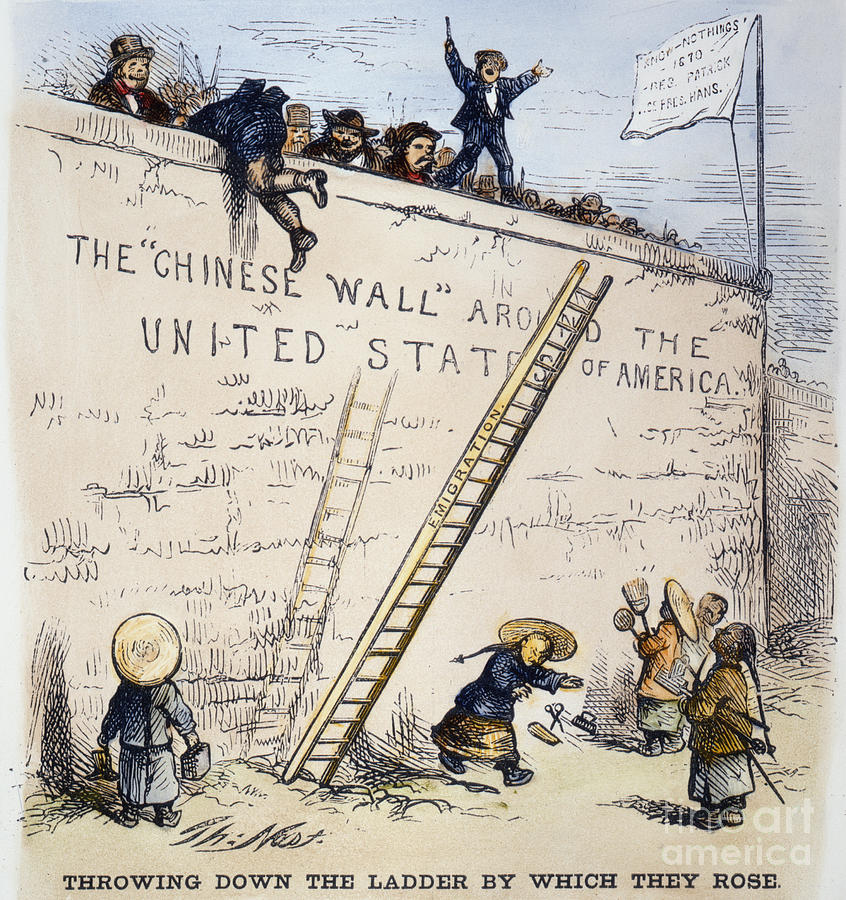 Immigration Cartoon Photograph By Granger