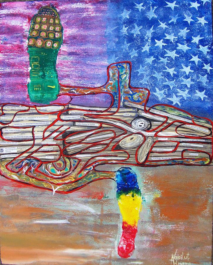 Immigration Painting - Immigration Step by Adriana Vasilut
