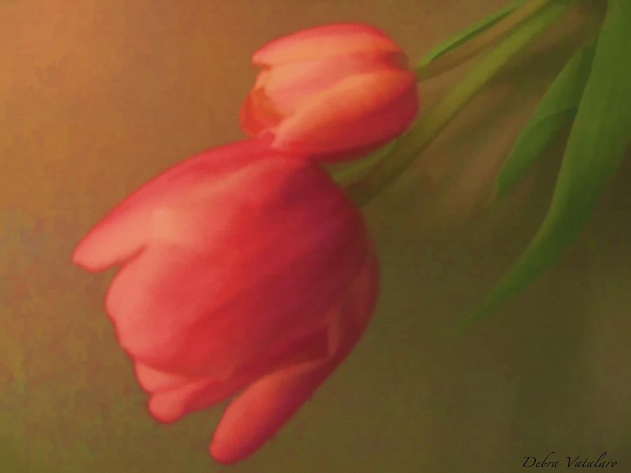 Tulips Painting - Impact Of Spring by Debra     Vatalaro