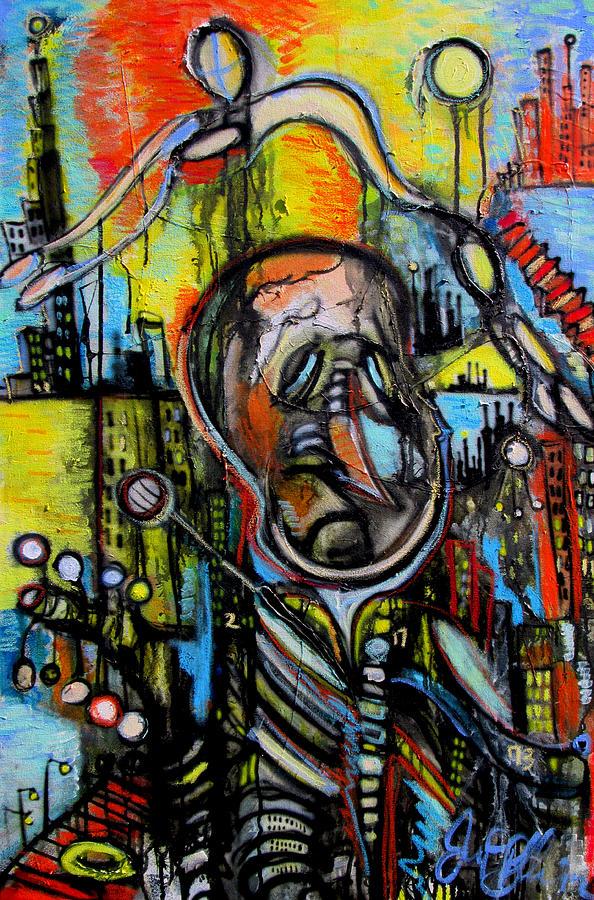 India Ink Painting - Impaired Judgement  by Jon Baldwin  Art