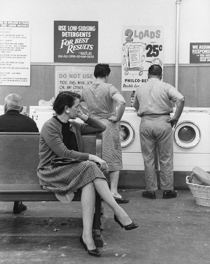 35-39 Years Photograph - Impatient Washers by Winfield J. Parks Jr.
