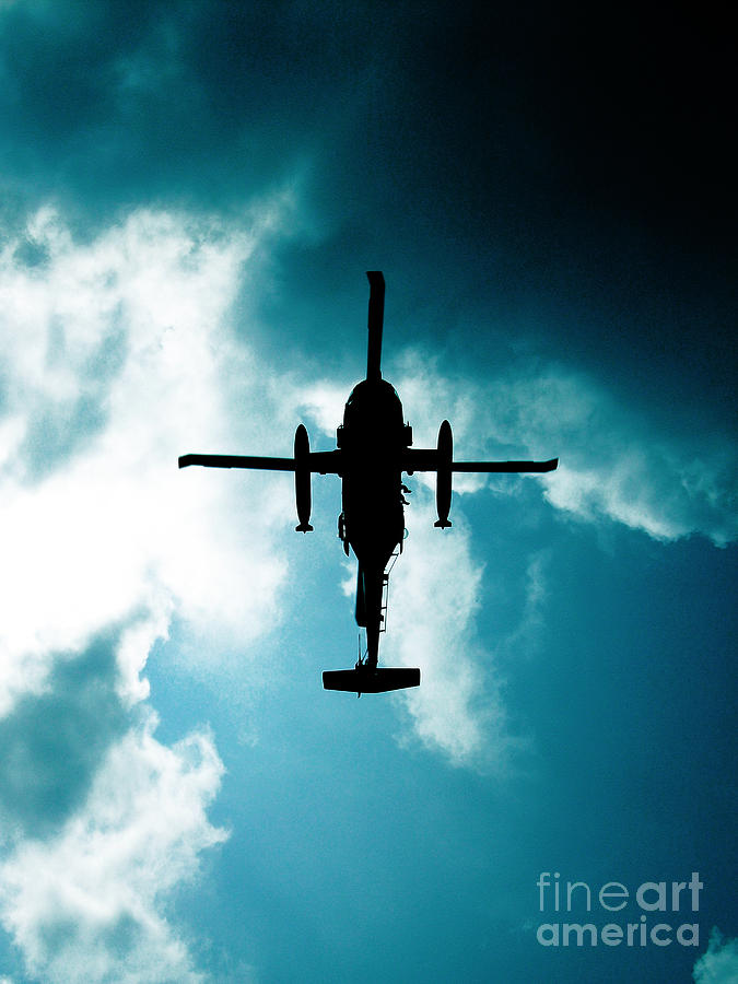 Helicopter Photograph - Impending Doom by Lj Lambert