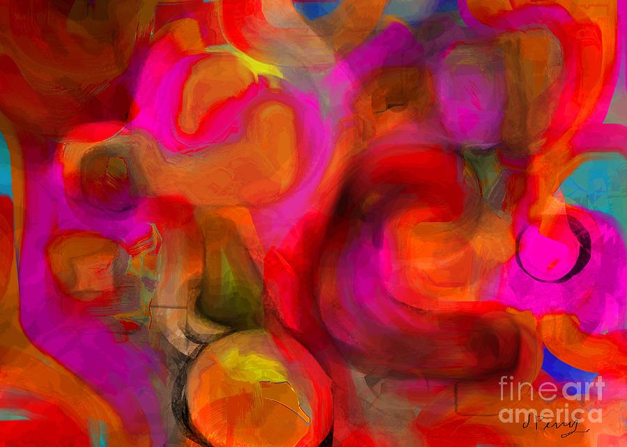 Abstracts Digital Art - Implications by D Perry