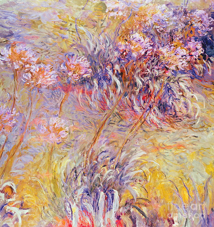 Impression Painting - Impression - Flowers by Claude Monet
