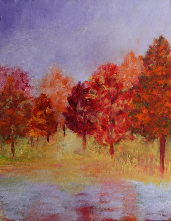Landscape Painting - Impression Of Fall by Karin Eisermann