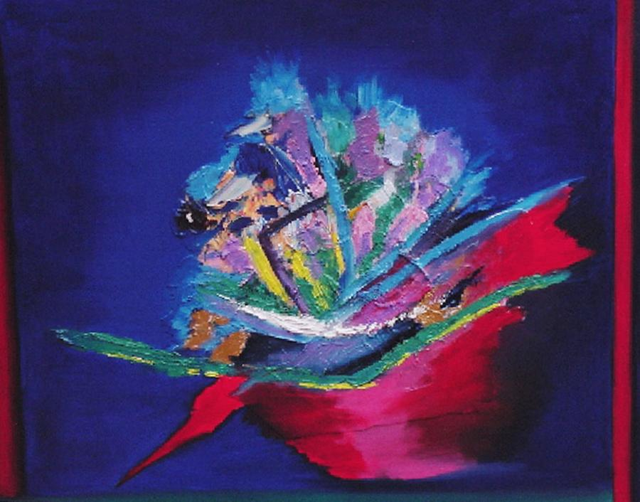 Abstract Painting - Impression Of Flowers by Karin Eisermann