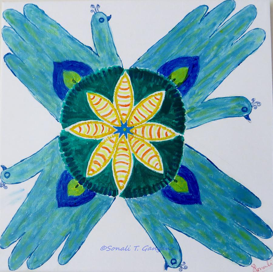 Peafowl Painting - Impression by Sonali Gangane