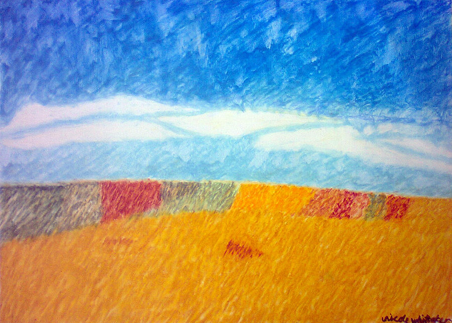 Landscape Painting - Impressionist Fields by Nicole whittaker