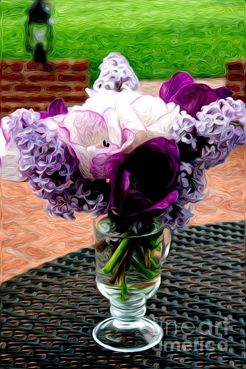Impressionist Floral Bouquet Photograph